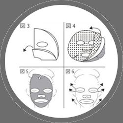 2. マスクは3枚になっています(図4)。中央のセルロース状のマスクをご使用下さい。